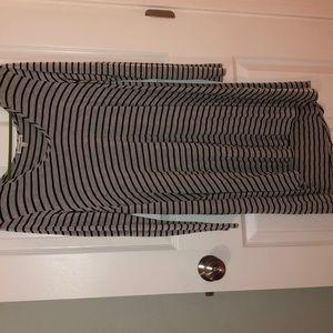 Stripped long sleeve dress